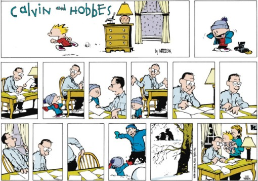 Calvin & Hobbes - father's day